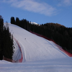 Val Gardena - Il muro principale della Saslong, la pista di Coppa del Mondo - ©A. Corbo
