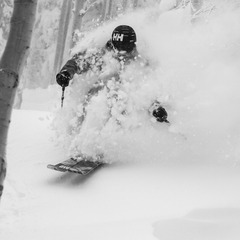 Mike Maroney powers through deep snow in Steamboat's legendary Aspen groves. - ©Liam Doran