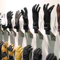 gloves at Black Diamond stand at ISPO Munich 2013