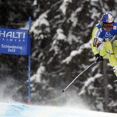 Svindal dans ses oeuvres / Descente, Schladming 2013 - ©Christophe Pallot, Agence Zoom