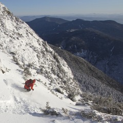 As Nemo approaches, Dan Smith drops into a favorite powder stash at Stowe, VT.
