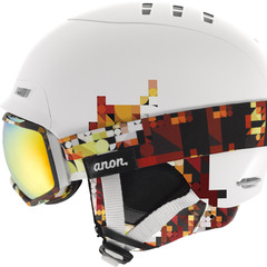 The anon. women's A2 combination with the Tempest Goggle and Bridger Helmet.