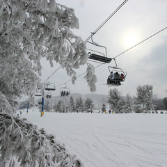 Liberty has had a good supply of fresh snow this season. Photo Courtesy of Liberty Mountain.