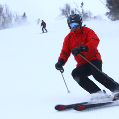 Sugarbush President and Owner Win Smith gets out regularly to test the product. Photo Courtesy of Sugarbush Resort.