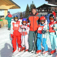 Ski lesson in Les Gets, France