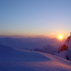 Sunset at Arlberg.