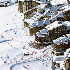 Val Thorens birds eye view