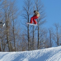 Catching air at Blackjack.