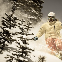 Palmer Hoyt in the trees off Sierra Chair