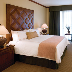 A standard guest room at the Four Seasons Vail.