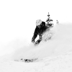 Eric Rasmussen finds great snow on the Twin Chutes at Breckenridge.
