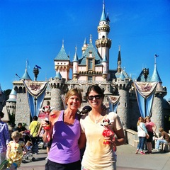 My mom and I at Disneyland. - ©Meg Olenick