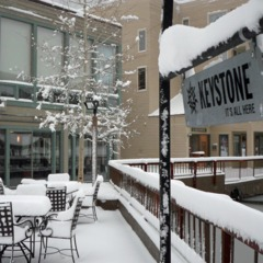 Fresh snow in Keystone in April