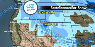 Snow Before You Go: Fast-Moving Storm En Route ©Meteorologist Chris Tomer