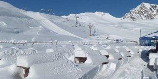 Raport śniegowy: do 40cm świeżego śniegu w Austrii, w Polsce i na Słowacji nadal można szusować ©Kitzsteinhorn