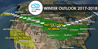17/18 Ski Season Long-Range Weather Forecast - ©Meteorologist Chris Tomer