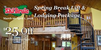 Spring Break Lift & Lodging Package ©Ski Brule