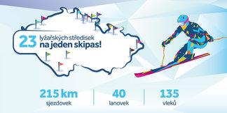23 českých skiareálů sjedeš na jeden CzechSkipass ©Czech Skipass