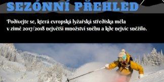 Infografika: Lyžařská střediska s největším množstvím sněhu v zimě 2017/2018 ©OnTheSnow