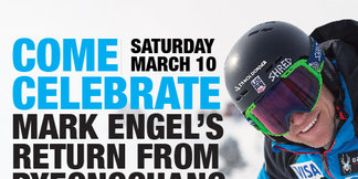 Tahoe Donner to Host Welcome Home Celebration for Olympic Skier Mark Engel ©Derek Moore