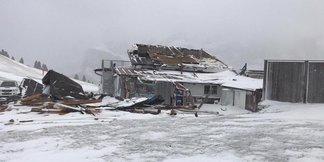 Południowy Tyrol: Wichura zniszczyła schronisko Emilio Comici ©Facebook/Maria Grazia Costner