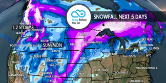 Widespread Snow Across West for New Year's: 12.27 Snow B4U Go ©Meteorologist Chris Tomer