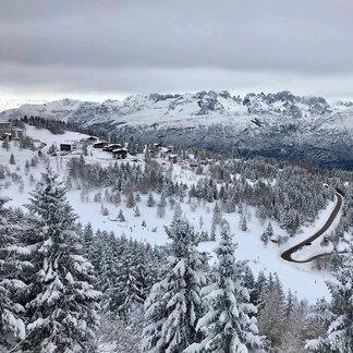 De laatste sneeuwval van 2017 in Italië - © Monte Bondone Facebook