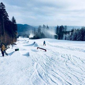 České sjezdovky v lednu 2018 - © facebook Ski Bukovka