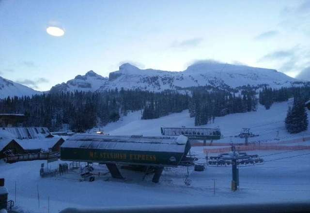 Early morning view from the mountain Lodge, going to be a great day