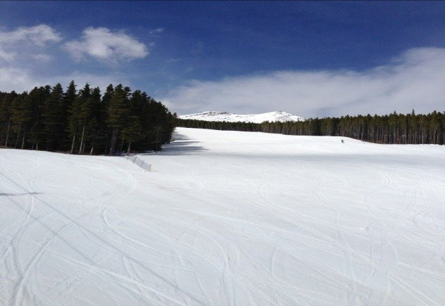 great day.  no people a bit slushy as expected.
