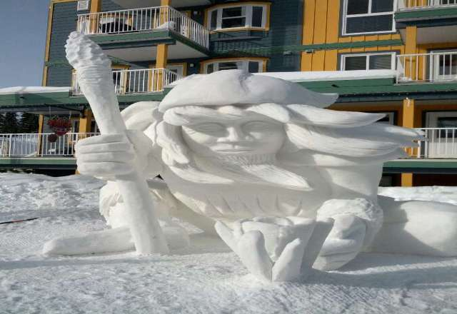 1st place at the snow sculpting..awesome