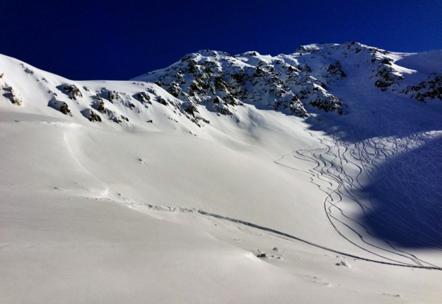 Finally, a beautiful blue sky day to enjoy all the powder that has stacked up over the past week! For video check out www.snowboardguides.com