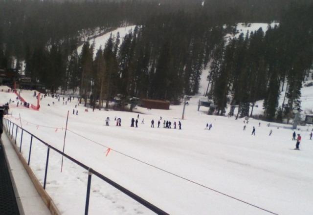 great time on 3/26 learned to snowboard. did snow a little bit. always fun.