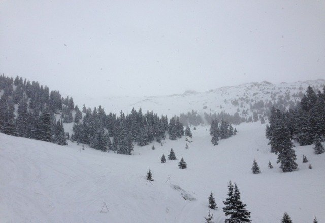 may 1 and its dumping snow! pow!
