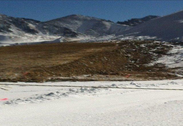 no snow! just rough terrain