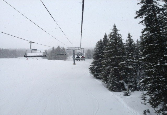 How is there no new snow? It's coming down right now. praise the pow God.
