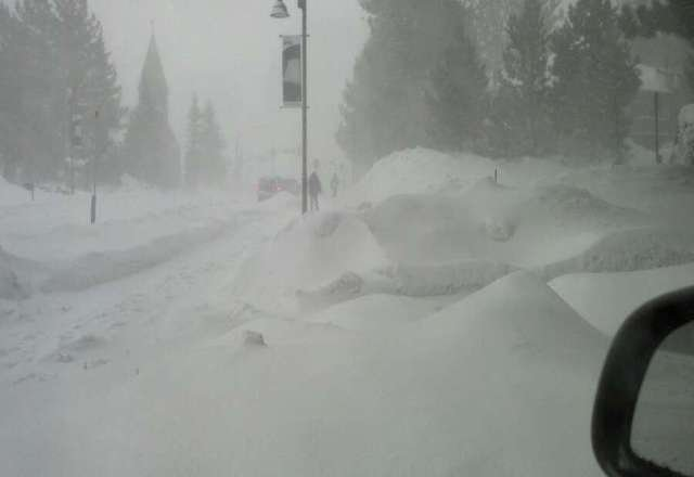 over a foot of snow, the upper slopes are closed, strong winds abd great snow.
