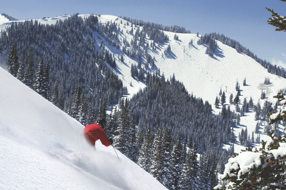 Powder skiing at Park City, Utah.