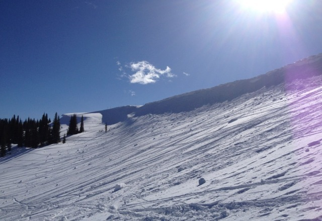 top part was awesome. bottom got a bit slushy by 3:00. worth going up there for the day though.