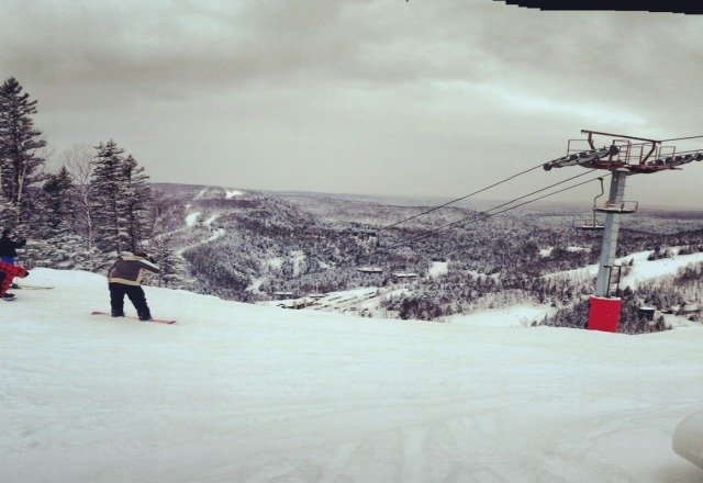 Beautiful day with some powder, but was pretty icy in spots.