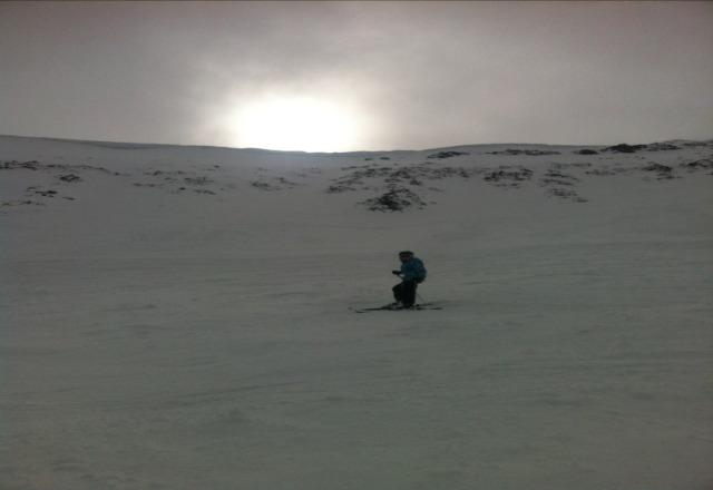 Lone Peak Bowl after fresh snow.