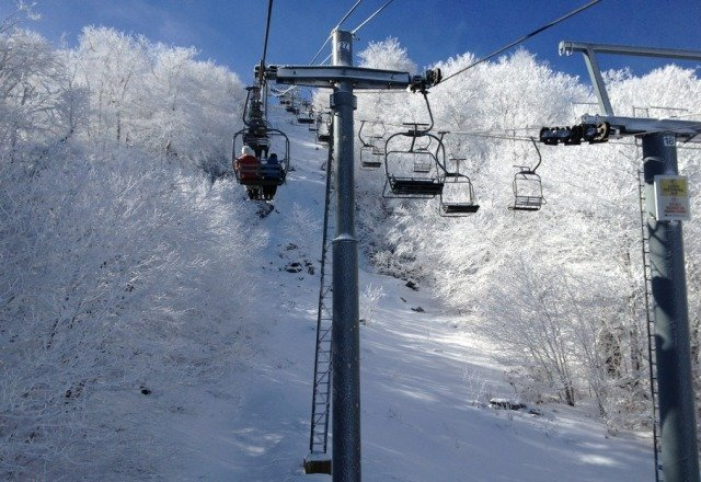 good skiing for southeast. wish they would take a break from blowing snow during the day.