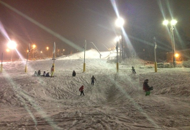night skiing so much better. less crowds. looking forward for today and hopefully more open trails and lifts.