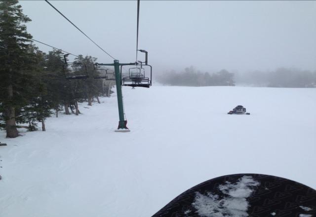 shred.!.! pretty windy, blew icy snow all day. fun day!