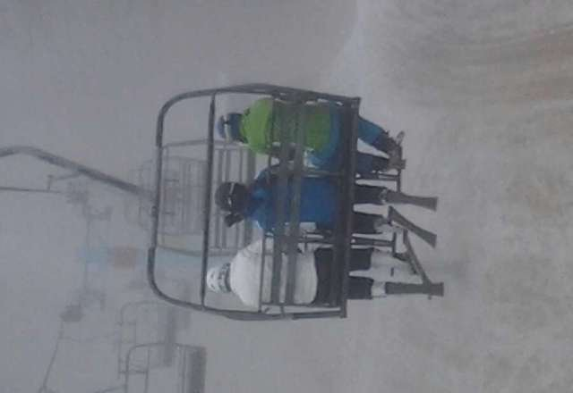 went today...crappy slushy snow...but it's skiable...and it was foggy