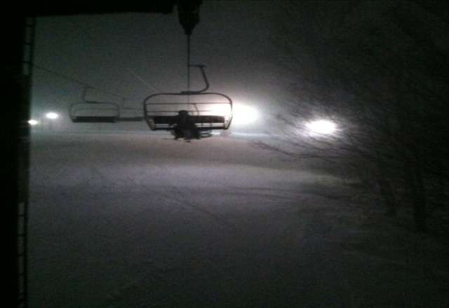 What a Awesome night with the best Conditions of Powder:)