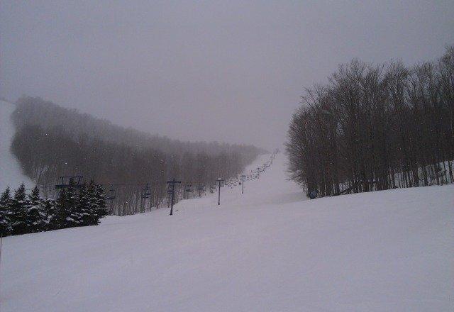 fresh powder snow 28F/-4C, good conditon, friendly people, it's great here!