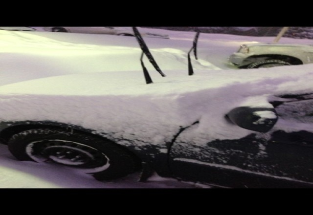 this was how much snow was on my car when I left blue... not to mention it had already snowed 15cm BEFORE i parked there!! EPIC POW DAY for Ontario!!