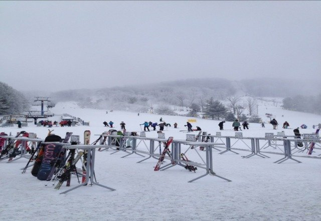 good conditions today and great cheeseburger at the outdoor kiosk. blowing harder than benny