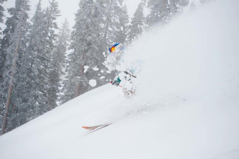 Local skier AJ Hobbs crushin' it. Photo by Dan Bayer